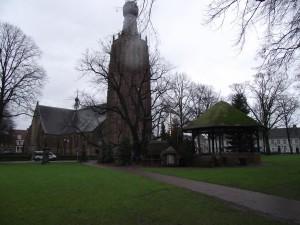 2012 dec kerk toren en kerststal